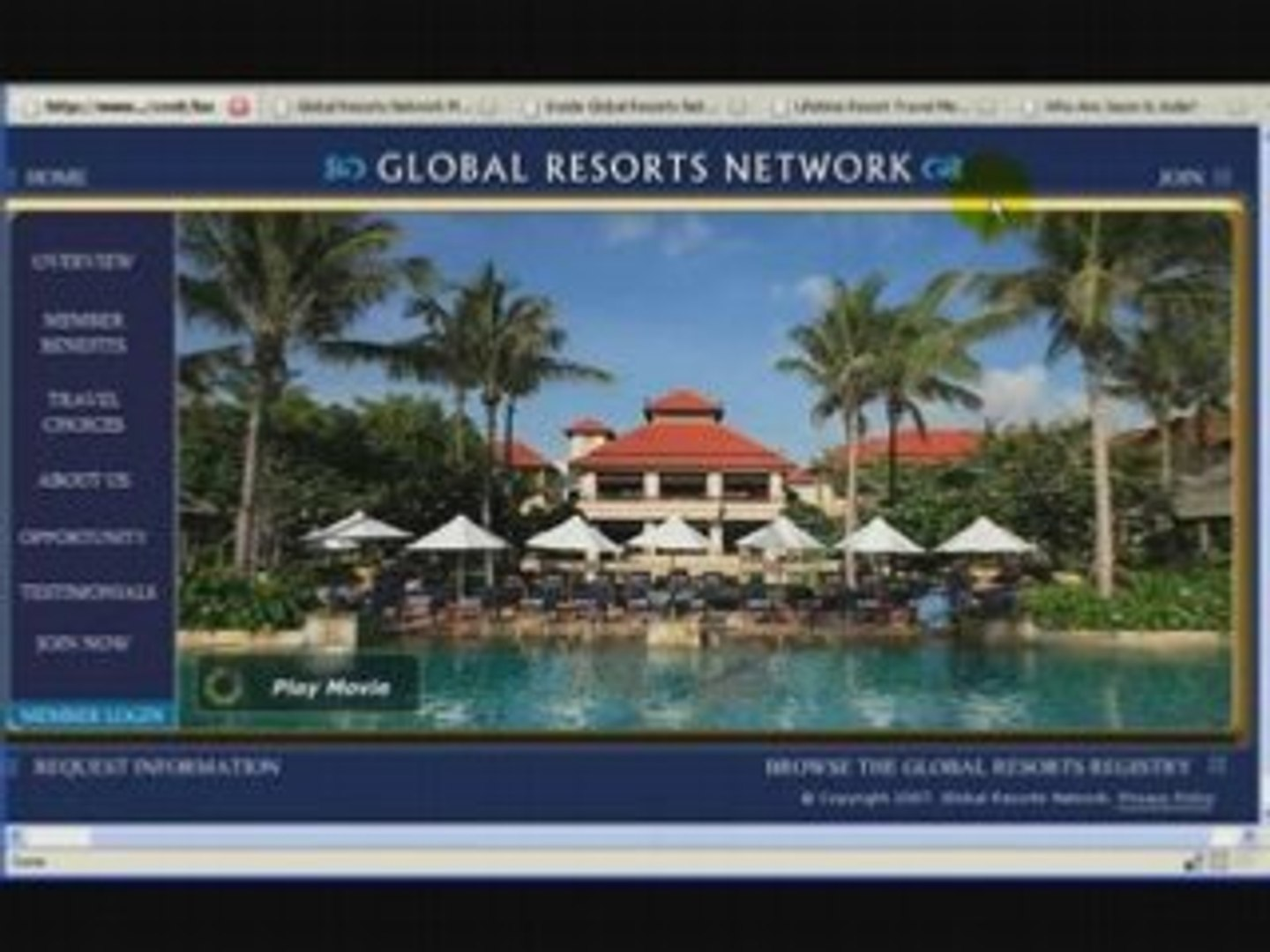 Global Resorts Network - The Income Stream Overview