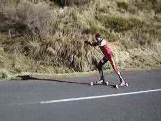 Rollerski montée du col Croix Morand  2008