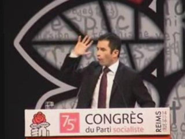 Discours de Benoît Hamon candidat au poste de 1er secrétaire