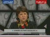 Congrès PS : profession de foi de Martine Aubry