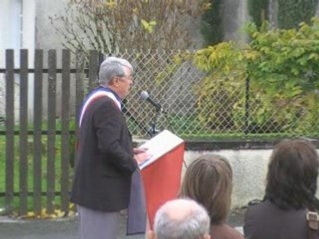 11 novembre 2008 à ST Estèphe, Discours de Mr le Maire