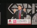 Vincent Peillon au Congrès de Reims
