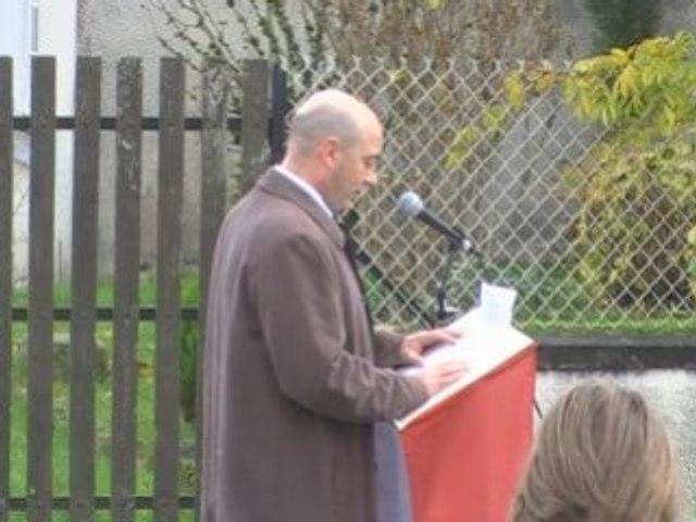 11 novembre 2008,  Discours premier adjoint