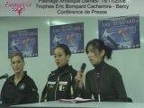 Trophée Bompard 2008 - Conf de Presse Patinage Dames