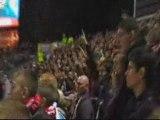 Tribune DVE l'ambiance de fin de match.