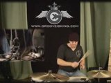 Drum Groove Solo Lesson: Minus some drums