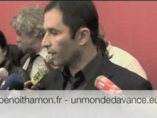Benoît Hamon appelle à voter pour Martine Aubry