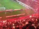 PSG Lyon Tifo Craquage fumis
