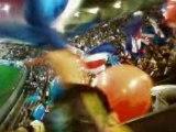 PSG-LYON - Tribune G Lyonnais, Lyonnais on t'encule 22/11/08