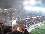 PSG-LYON entrée des deux equipes, et coup d'envoi de pauleta