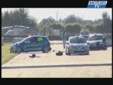 Accident au depart de la Tribu Clio Cup