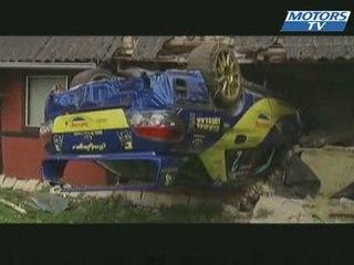 Le crash de l'annee Rallye Danemark