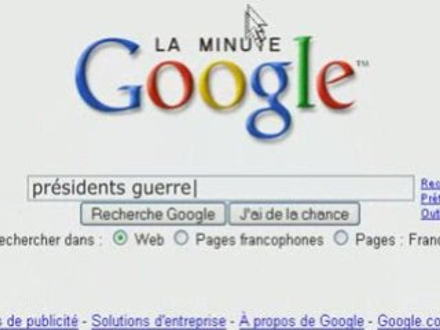 Minute Google - presidents guerre