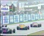 Ayrton Senna overtakes five cars