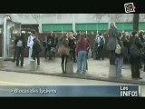 Caen : Blocus des lycées , Loi Darcos échaudée