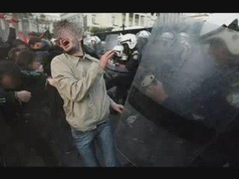 Grèce émeute Solidarité