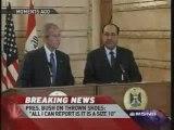 Pres. Bush Has Shoe Thrown At Him During A Speech