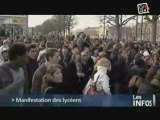 Caen : Manif Lycéennes, Tous contre Darcos !