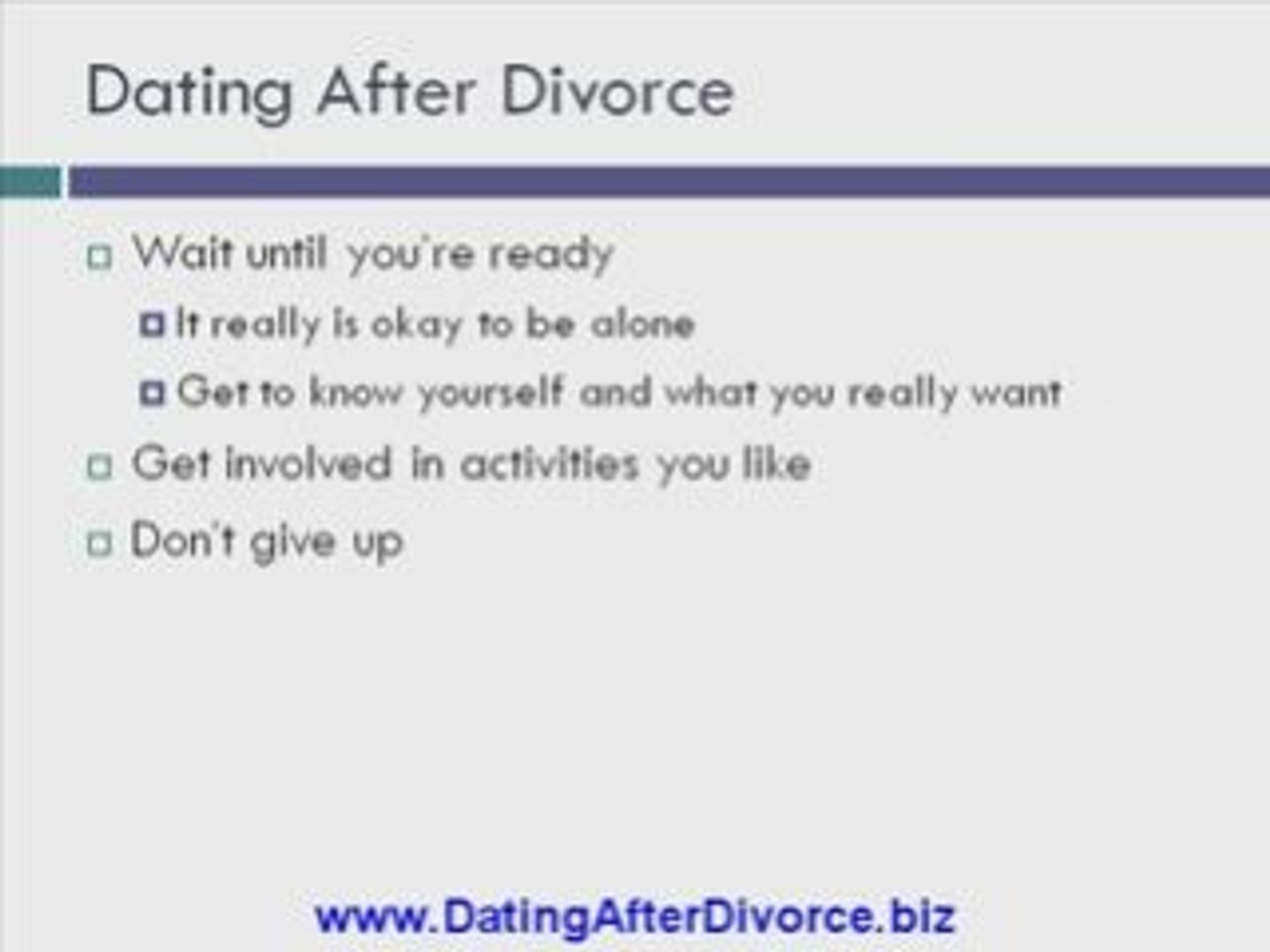 help with dating after divorce