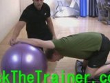 Stability Swiss Ball Kneeling Chest Pecs Static Stretch