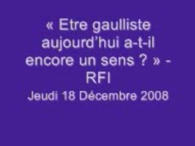 Débat RFI avec NDA Décembre 2008