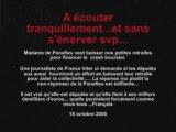 Françoise de Panafieu et la retraite des Députés