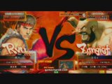 Street Fighter 4 : Ken vs Zangief