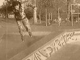 Version sépia:Roller au skate parc de La Ferté sous Jouarre