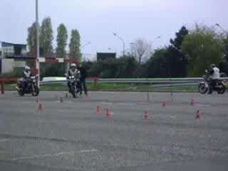 Epreuve permis moto - plateau