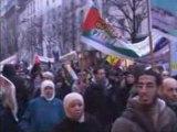 Manif contre la barbarie sioniste à Gaza Paris 31 déc 2008 1