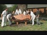 Nagymegyer - Táltos pad állítása Mátyás király tiszteletére