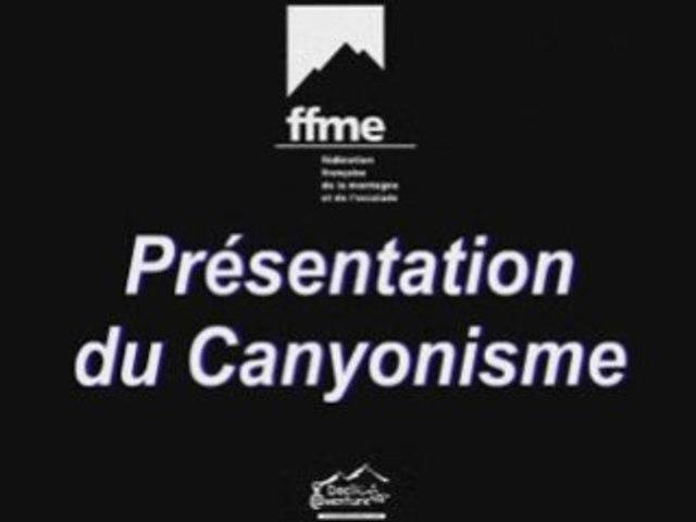 Présentation du canyonisme