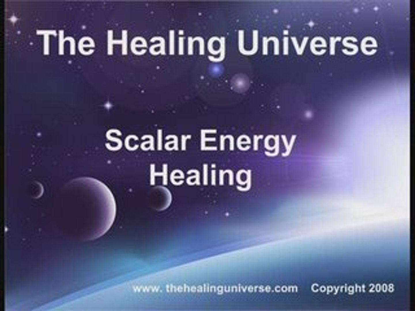 Scalar-Energy in Healing     from The Healing Universe