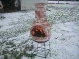 Poêle à bois pour le chauffage mexicain de terrasse