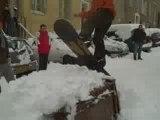 superbe saut en snow a marseille sous la neige