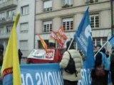 manifestation syndicats européens, sarkozy est au parlement
