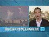 Israel accusée d'utiliser bombes au phosphore blanc!