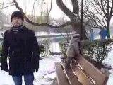 Les bords de Marne enneigés...