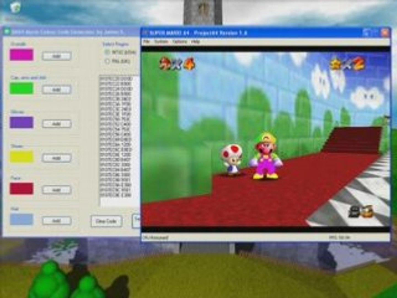 SM64 Mario Colour Code Generator Program V1 0