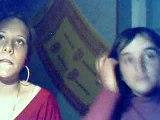 Justine et moi en pleine discussion :P