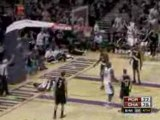 NBA Gerald Wallace surprised dunk on Greg Oden
