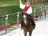 Voltige cosaque en ligne droite, été 2008