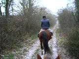 Nous, à cheval sous la neige