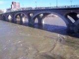 La Garonne à Toulouse après la tempête du 25-1-09