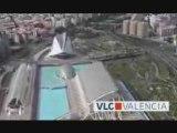 VALENCIA LA VILLE Vue d'hélicoptére