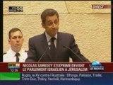 Discours de N. Sarkozy devant le Parlement Israélien !