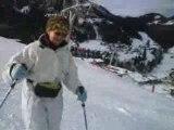 ma cherie au ski :)