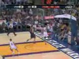 NBA Corey Maggette steals the pass...He finishes with a slam