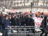 Manifestation des enseignants-chercheurs 10/02/2009
