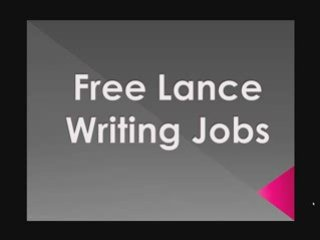 Free Lance Online Writing Jobs Marketing And Media Writing